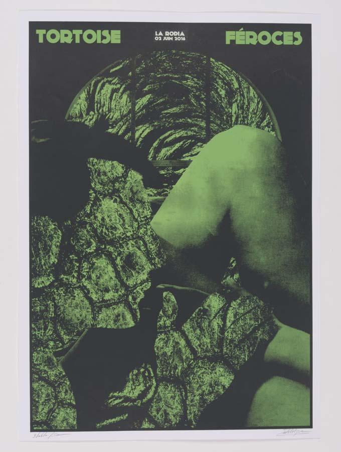 Tortoise tour poster serigraphie