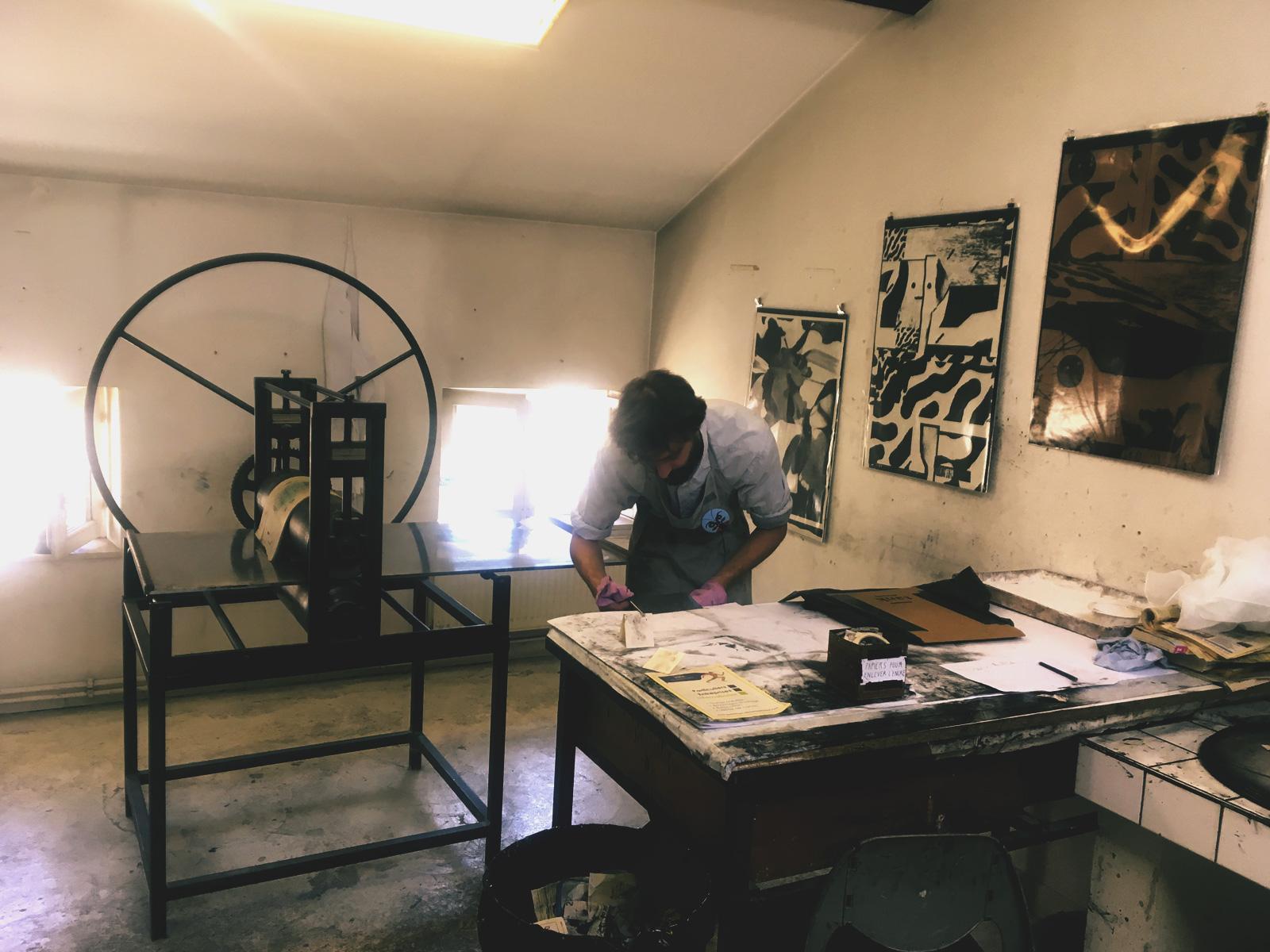 workshop gravure